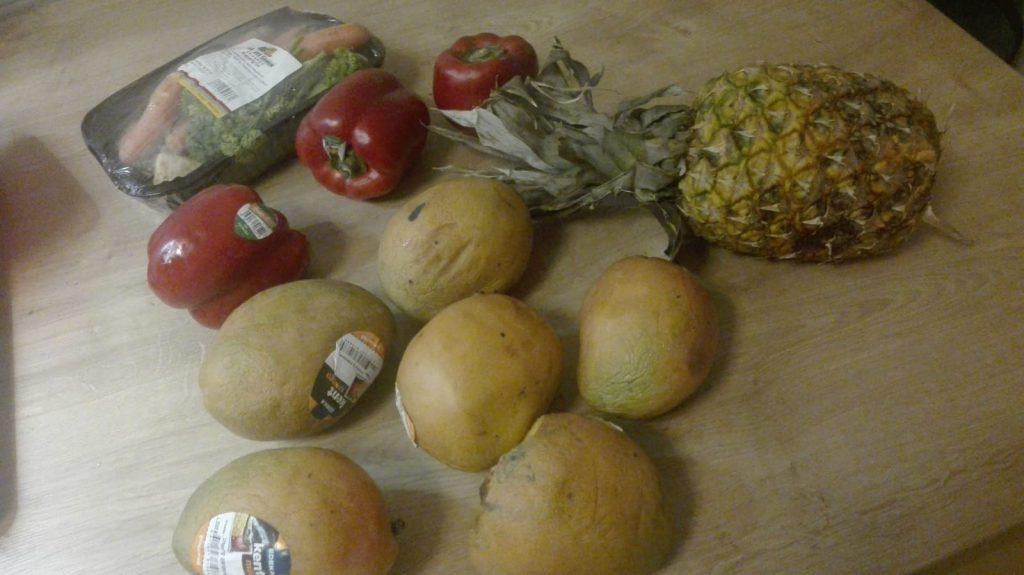 Obst und Gemüse vom Müll