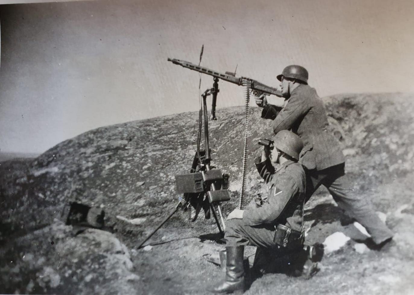 Gefechtsstation am Hafen von Kirkenes